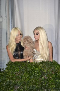 LADY GAGA MEETS DONATELLA VERSACE!