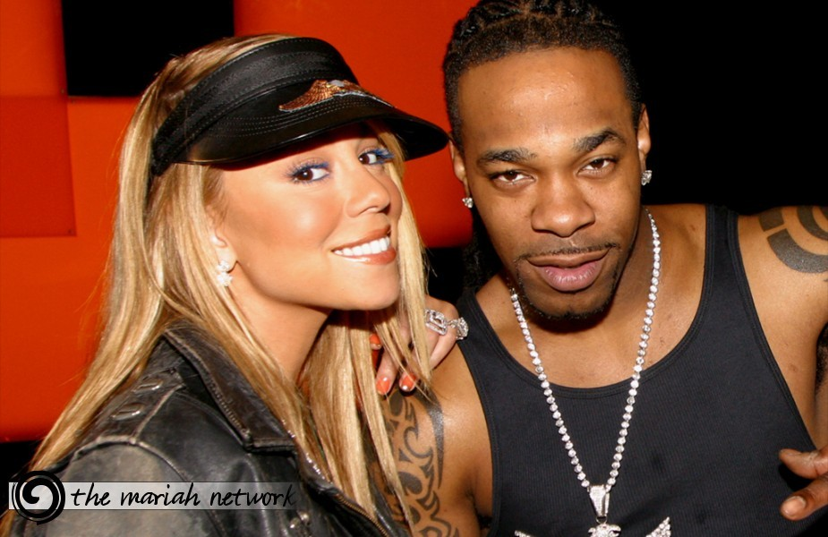 "Photo of Busta Rhymes & his friend musician  Mariah Carey - Song ""I Know What You Want"""