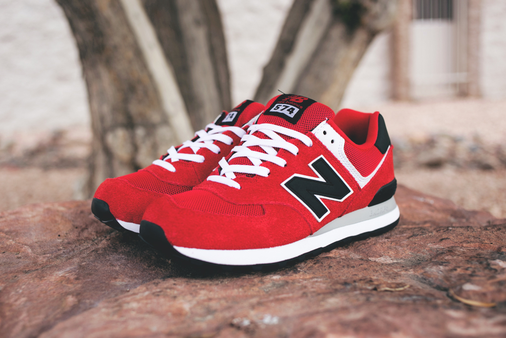 new balance 574 wearing your heart