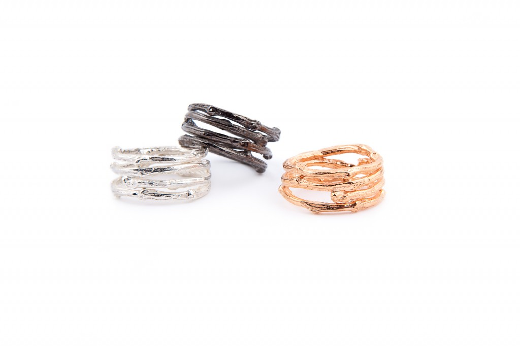 I Love a Lassie - Birds Nest collection - Wide Twig Rings
