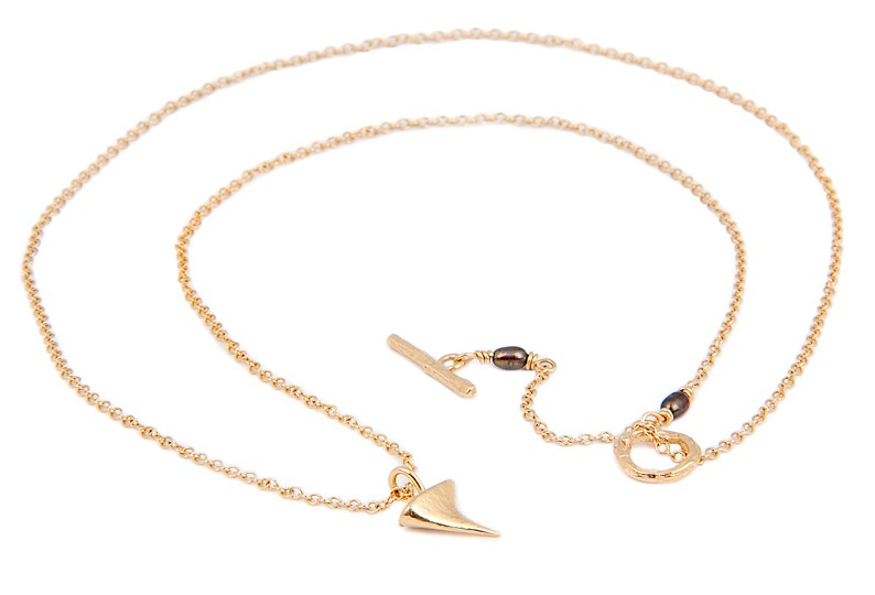 THORN LONG NECKLACE RTN02 - 18ct yellow gold vermeil 2