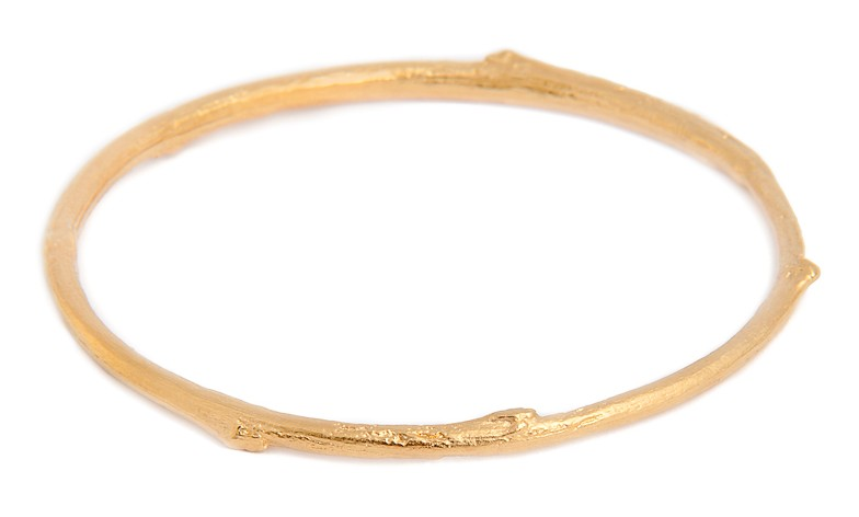 TWIG BANGLE BNB01 - 18ct yellow gold vermeil