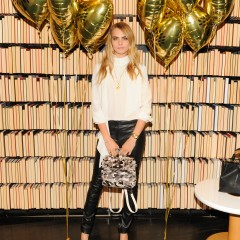 CARA DELEVINGNE HOSTS PARTY IN NYC TO CELEBRATE THE LAUNCH OF HER MULBERRY COLLECTION