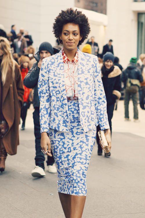 SOLANGE BLUE WHITE SUIT