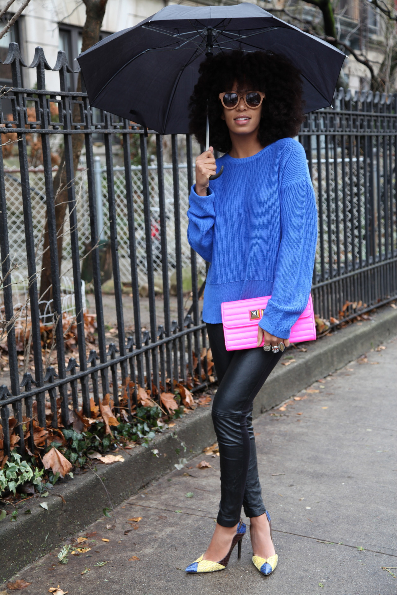 SOLANGE LEATHER PANTS