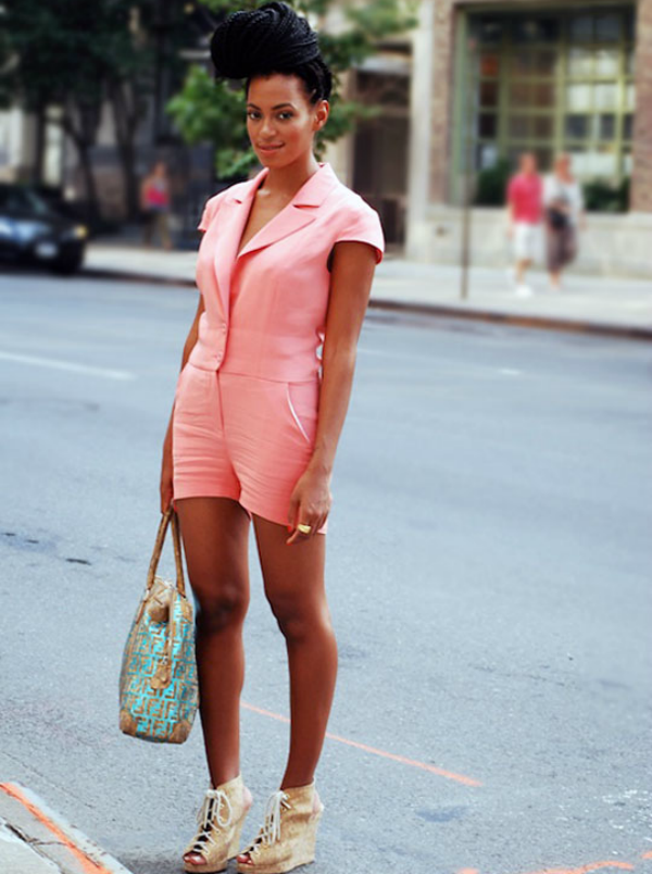 SOLANGE PINK PLAYSUIT