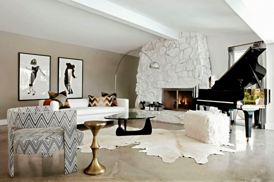 How does the world of fashion influence home interiors for Living room jazz los angeles