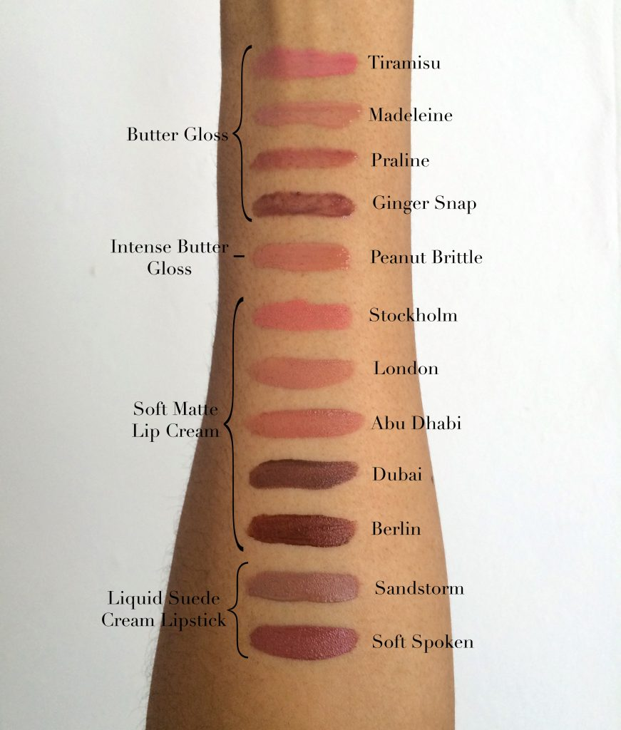nude lipsticks nyx swatches