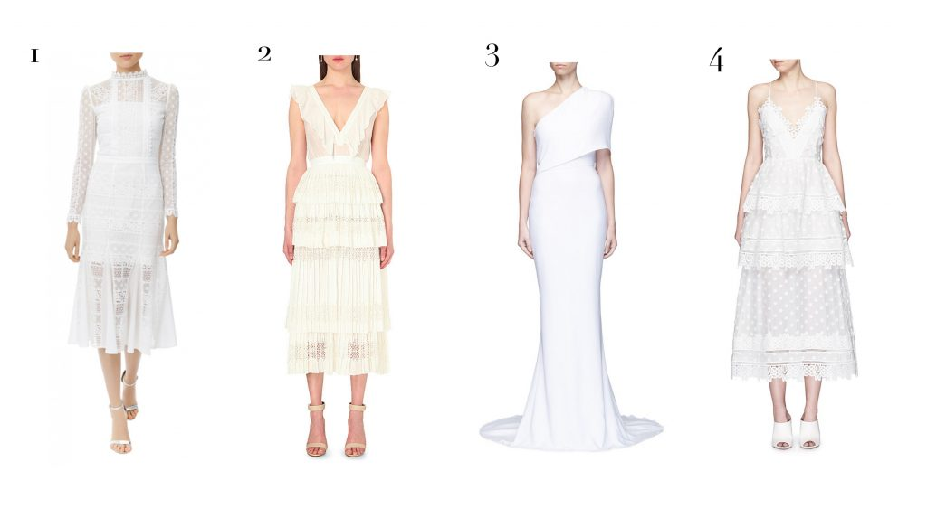 white hot pieces - dresses