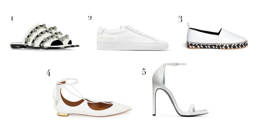 white hot pieces - shoes