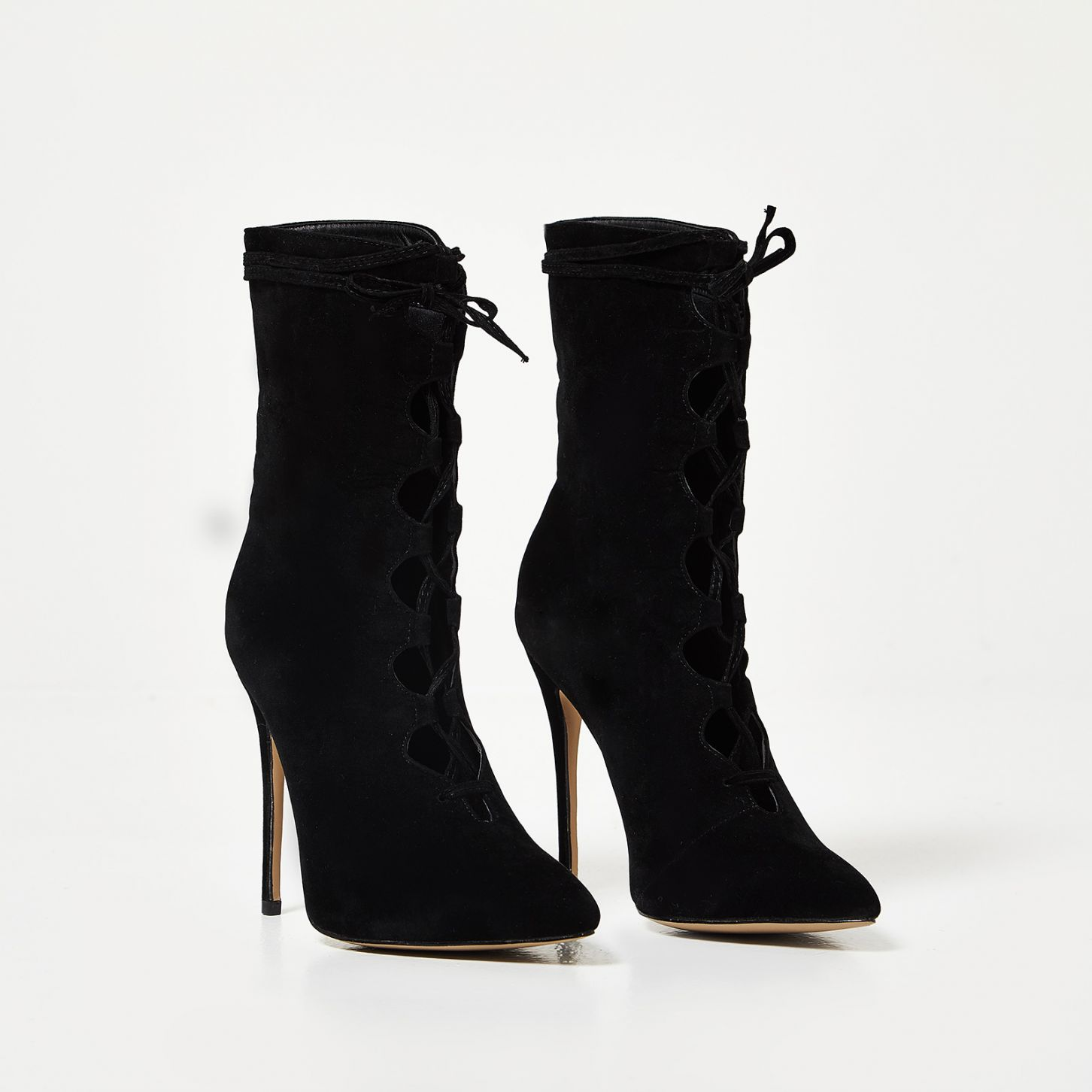 EGO BLACK LACE UP BOOTS