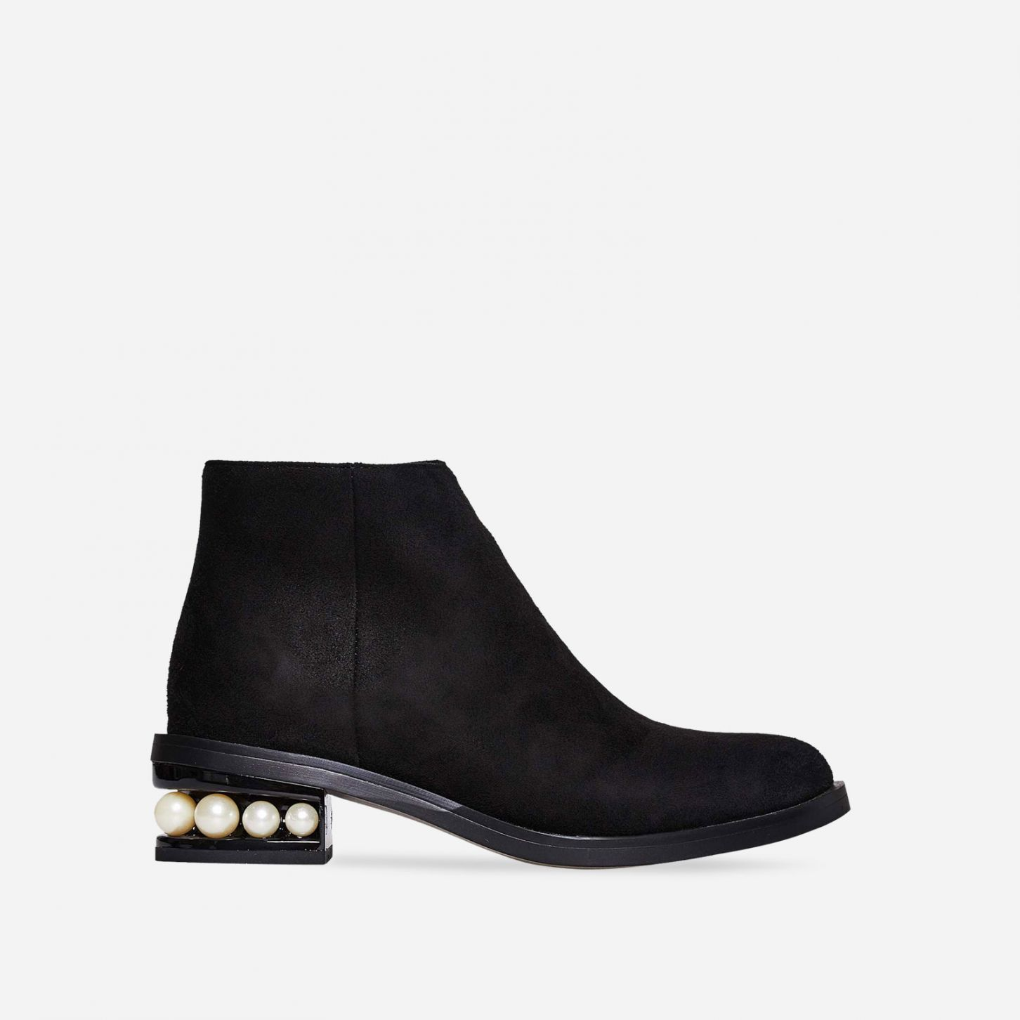 EGO SUEDE PEARL ANKLE BOOTS