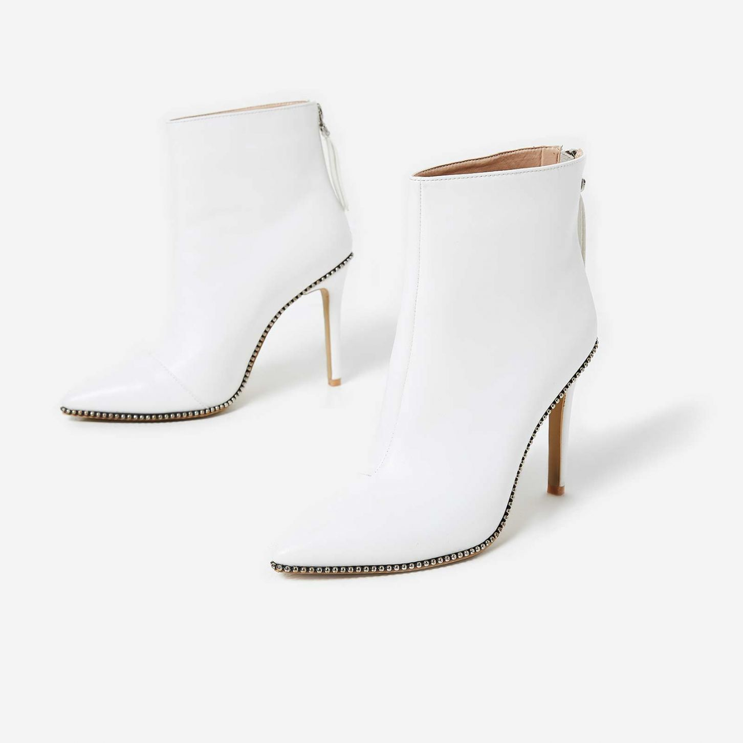 EGO WHITE ANKLE BOOTS